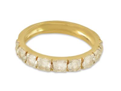 Златен пръстен с циркончета